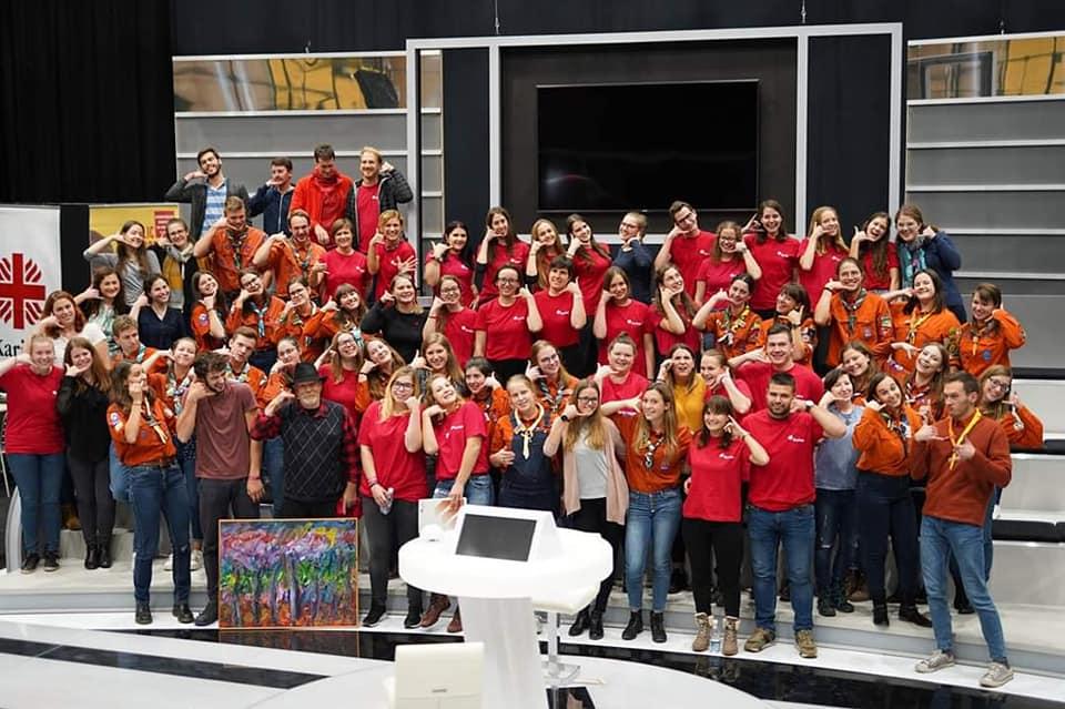 prostovoljci YC na velikem evropskem srecanju
